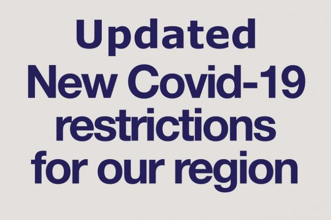 Covid-19: Further restrictions for the North East