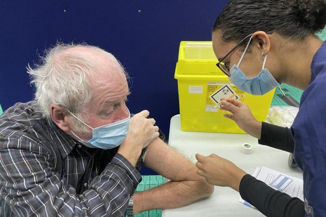 20,000 COVID vaccine milestone passed in North Tyneside