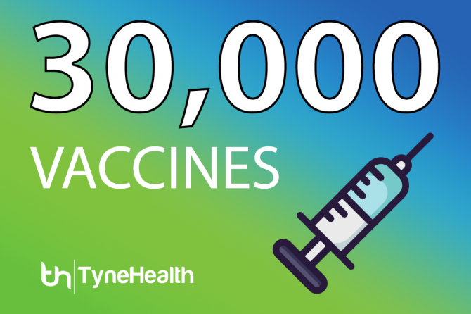 Another Milestone for North Tyneside: 30,000th Vaccination Carried Out